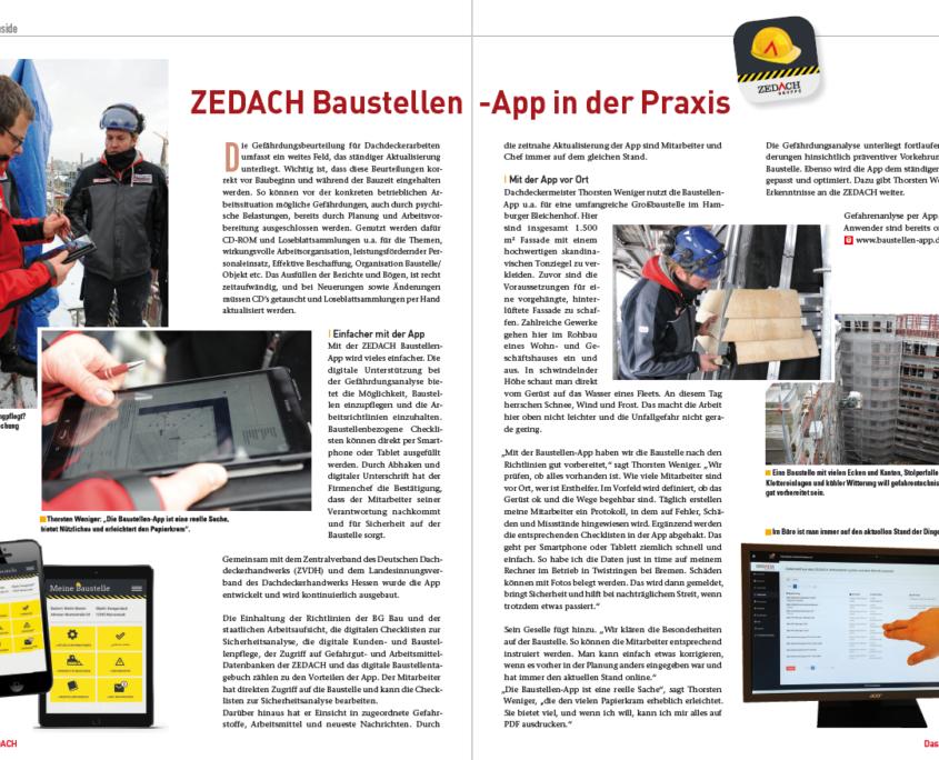 Zedach-Baustellen-App